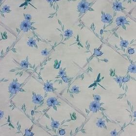 Matthew Williamson Rosanna Trellis Stone-Duck Egg-Persian Blue W7145-03