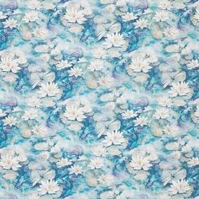 Matthew Williamson Water Lily Azure Blue F7131-01