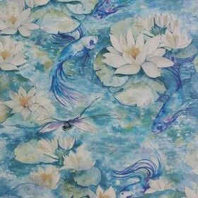 Matthew Williamson Water Lily Azure Blue W7148-01