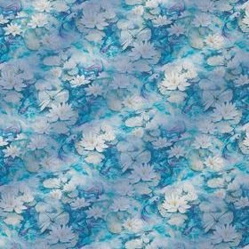 Matthew Williamson Water Lily Sheer Azure Blue F7130-01