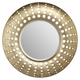 S.J. Dixon Holed Mirror Gunmetal 008261