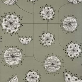 Miss Print Dandelion Mobile French Grey with White MISP1023