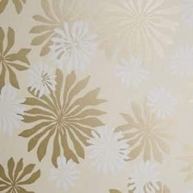 Miss Print Fleur Cream with Gold MISP1017