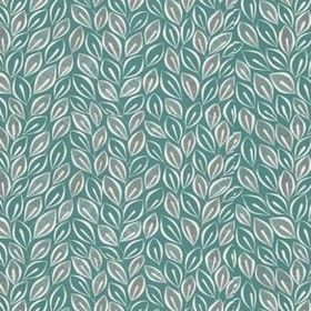 Miss Print Leaves Teal with White MISP1030
