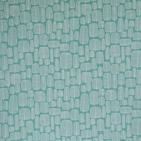 Miss Print Little Trees Aquamarine FABR1009