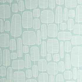 MissPrint Little Trees Eggshell Blue MISP1229