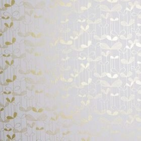 Miss Print Saplings White with Gold MISP1010