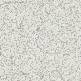 Morris & Co Acanthus Scroll Ivory-Charcoal DMORAC104
