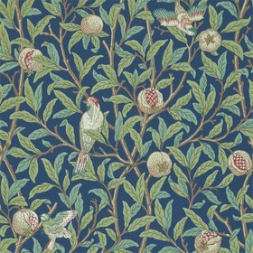 Morris & Co Bird & Pomegranate Blue-Sage 216454