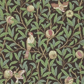 Morris & Co Bird & Pomegranate Charcoal-Sage 212537