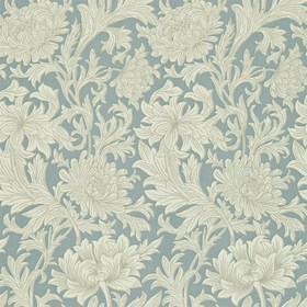 Morris & Co Chrysanthemum Toile China Blue-Cream 210415