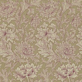 Morris & Co Chrysanthemum Toile Grape-Bronze 210416