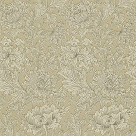 Morris & Co Chrysanthemum Toile Ivory-Gold 210417