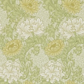 Morris & Co Chrysanthemum Pale Olive 212545