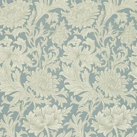 Morris & Co Chrysanthemum Toile China Blue-Cream DMOWCH101
