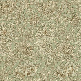 Morris & Co Chrysanthemum Toile Eggshell-Gold DMOWCH104