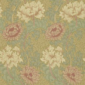 Morris & Co Chrysanthemum Pink-Yellow-Green WM7612-3