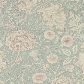 Morris & Co Double Bough Teal-Rose 216680