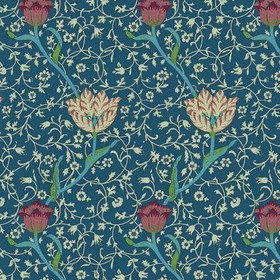 Morris & Co Garden Tulip Indigo-Brick WM8552-1