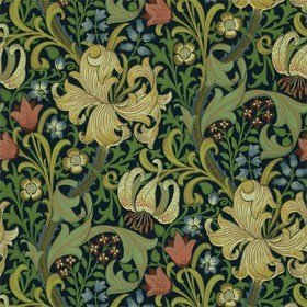 Morris & Co Golden Lily Indigo 210429