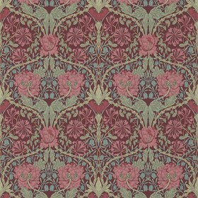Morris & Co Honeysuckle & Tulip Burgundy-Sage 214703