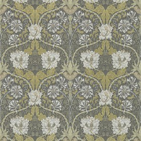 Morris & Co Honeysuckle & Tulip Charcoal-Gold 214701