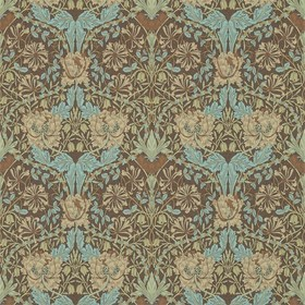 Morris & Co Honeysuckle & Tulip Taupe-Aqua 214702