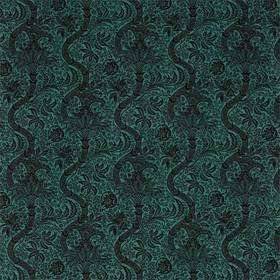 Morris & Co Indian Flock Velvet Cerulean-Walnut 236944