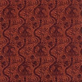 Morris & Co Indian Flock Velvet Russet-Mulberry 236943