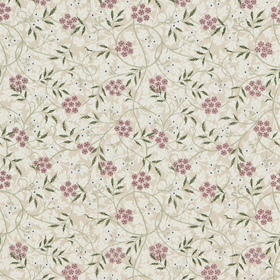 Morris & Co Jasmine Embroidery Blossom Pink-Sage 234552