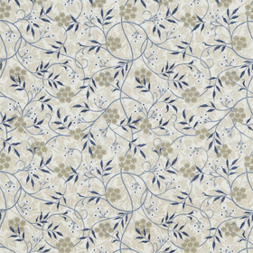 Morris & Co Jasmine Embroidery Ecru-Woad 234553