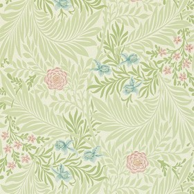 Morris & Co Larkspur Green-Coral 212558