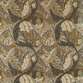 Morris & Co Acanthus Mustard-Grey 226400