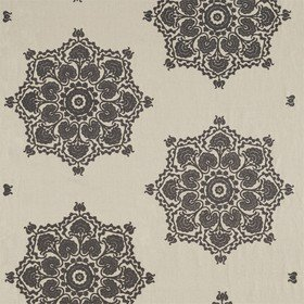 Morris & Co Indian Loop Charcoal-Linen 236522