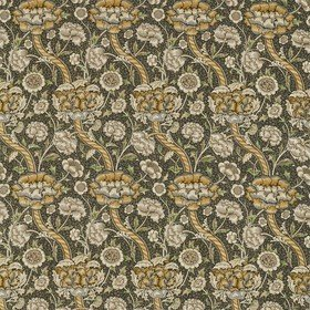 Morris & Co Wandle Charcoal-Mustard 226397