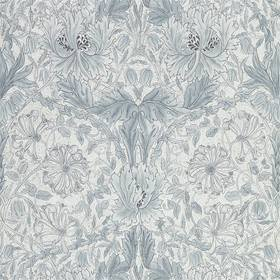 Morris & Co Pure Honeysuckle & Tulip Cloud Grey 216524