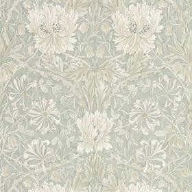 Morris & Co Pure Honeysuckle & Tulip Grey-Blue 216525
