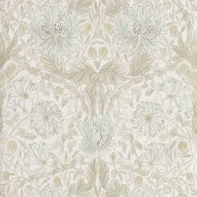Morris & Co Pure Honeysuckle & Tulip Linen 216526