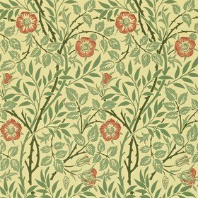 Morris & Co Sweet Briar Green-Blue-Rose 210478