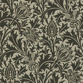 Morris & Co Thistle Black-Linen 210479