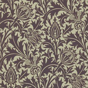 Morris & Co Thistle Mulberry-Linen 210482
