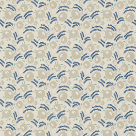 Morris & Co Wightwick Embroidery Ecru-Mineral Blue 234548