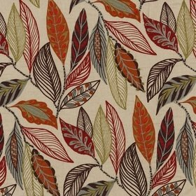 Mulberry Home Forest Leaves Red-Plum FD766-V54