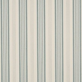 Mulberry Home Narrow Ticking Stripe Ivory-Aqua FG067-J81