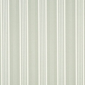 Mulberry Home Narrow Ticking Stripe Silver-Ivory FG067-J79