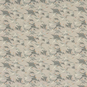 Mulberry Home Wild Geese Linen Goose Grey FD287-A121