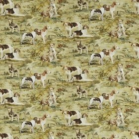 Mulberry Home Hounds Linen Multi FD296-Y101