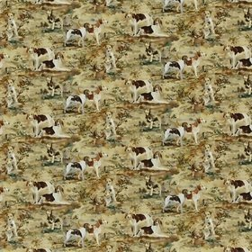 Mulberry Home Hounds Velvet Multi FD297-Y101