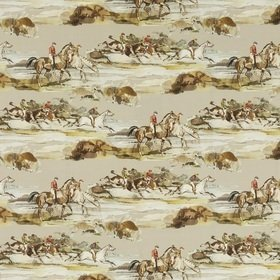Mulberry Home Morning Gallop Velvet Grey-Sand FD295-A46