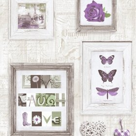 Muriva Live Laugh Love Purple 131504